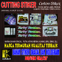 Sticker Cutting Custom Bahan Oracal dan Hologram - 7x7