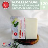 TSb Roselem Rosemary Lemongrass Homemade Natural Soap ( Sabun Alami )