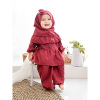 Setelan Baju Gamis Anak Bayi Cewek Perempuan Kulot Cantik ( 2-3 th )