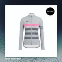 COOLMAX RCC Pro Team Women Long Jersey GREY - Baju Sepeda Wanita ACM