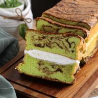 KUE LAPIS MARBLE PANDAN CHEESE - DELISH CAKERY