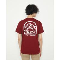 Kaos Unisex Erigo T-Shirt The Walking Cotton Combed Burgundy - M