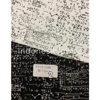 Kain bahan Katun Jepang Tokai senko motif Math - Nomor 1
