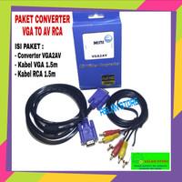 Converter VGA2AV To AV RCA /Adapter VGA To RCA Full HD 1080P Mini Box