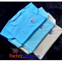 Baju/ Oblong Polos Pendek Bayi MORRIES Uk S M L XL SNI - S