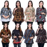 Blouse Batik Cewek Atasan Baju Kerja Kantor Blus Wanita Panjang Murah
