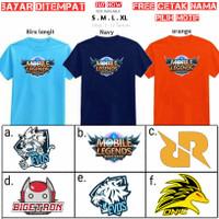 Kaos Anak Mobile legend Logo/Baju Evos rrq onic logo Anak/Free nama - Maroon tua, S