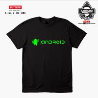 Kaos Baju Gadget Android Logo Kaos Handphone - Karimake
