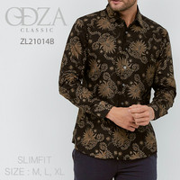 Batik, Kemeja slimfit pria,Baju batik cowok Lengan panjang D 446