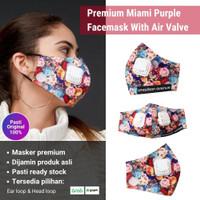 2Madison Premium Miami Purple Facemask With Air Valve