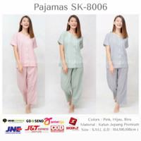 Homewear / Piyama Korea Katun Jepang - Celana Panjang Motif Kotak 8006
