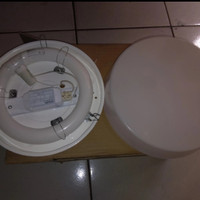 Kap lampu plafon TL ring 22w bulat / Kap Baret 20w Bulat Kap Baret 22w