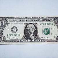 uang asli 1 dollar amerika