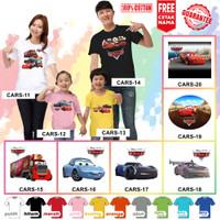 Kaos / Baju CARS ANAK 30DESAIN (FREE TULISAN/NAMA) - Kaos Putih, Size 0 (6-12bln