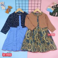 Dress Valencia 1-8 Tahun / Dres Anak Lengan Panjang Pesta Baju Cewek