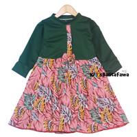 Dress Valencia 4-5 Tahun / Dres Anak Lengan Panjang Baju Perempuan