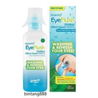 Rohto Eyeflush Distiled Witch Hazel 13.0% - cairan steril pencuci mata