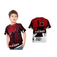 Kaos Baju Anak Black Widow Fullprint
