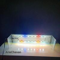 lampu LED HPL costum 30cm 12watt untuk akuarium aquascape