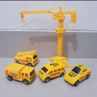 Mainan Set Alat Kontruksi Anak Edukatif - Mobil Truk Crane Contruction