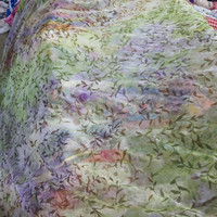 kain chiffon silky/sifon motif gradasi/bahan atasan blouse/dress outer - hijau ungu