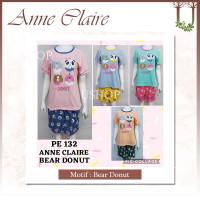 ANNE CLAIRE Body Fit - SETELAN Baju Tidur / piyama bahan kaos USHOP