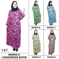 Longdres Batik, Daster Lengan Panjang, Kancing, Bumil-Busui LPT001-147
