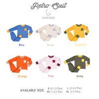 SURICACA Setelan Baju Anak Kaos Bayi Celana Panjang - Retro Series 4C - Hijau, XL