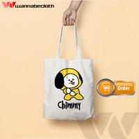 Tote Bag Tas Tote Bag Custom Satuan Tote Bag Blacu BTS BT21 Chimmy