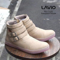 Sepatu Boots Wanita Trendy Masa Kini Keren Lavio Pino Original - Cream, 36