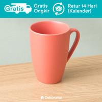 Dekoruma Java Gelas Polos Merah Muda - Porselen | Mug Tahan Panas
