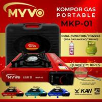 kompor gas portable MYVO 2 in 1 - gas elpiji dan gas kaleng - SNI