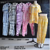 Setelan Kulot CP Tie Dye Baby Doll Baju Tidur Batik Pekalongan 1