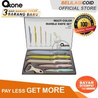 Oxone OX-608 Pisau Dapur Multi Colour Marble Knife Set