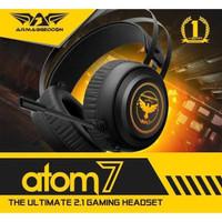 Armageddon Headset Gaming Atom 7 Original Headphone 7 Colour Lighting