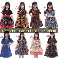 Dress Anak Perempuan umur 2 - 10 Tahun | Baju Batik Anak Termurah