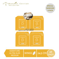 [PAKET 4 PACK] Natural Cotton Signature Ultra Slim (Medium-24,5cm)