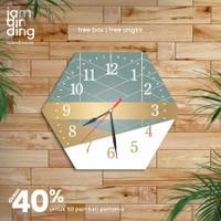 jam dinding kayu unik besar murah minimalis motif scandinavia 30x30 cm