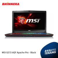 Laptop MSI GE72 6QF Apache Pro Intel Core i7 8GB/1TB/Win 10 ORI/Resmi