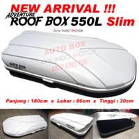 Roof Box Bagasi Atas Mobil 550L Slim Universal Box only