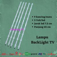 Backlight TV LED 9 kancing 3V lampu led backlight tv 3v 9 mata 3 volt
