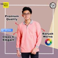 Kaos Polo Panjang Polos Pria Polo Shirt Panjang Pria Polos Baju Polo - XL
