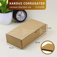 KARDUS CORRUGATED 20X10X5 CM   DIE CUT   KOTAK KARTON   BOX PACKING  