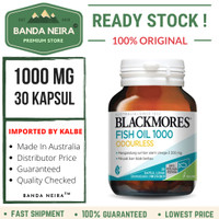 Blackmores Odourless Fish Oil 30 Kapsul 1000 Mg