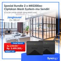 Bundling Synology MR2200ac x 2 Mesh WiFi Router Garansi 2 Tahun