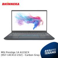 MSI Prestige 14 A11SCX Intel Core i7 16GB/512GB Windows Carbon Gray