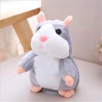 Mainan Boneka Talking Hamster Peniru Suara - Abu-abu