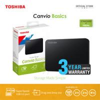 Toshiba Canvio Basic Hardisk Eksternal 1TB USB3.0 - Hitam + Pouch