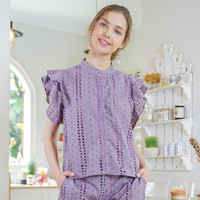 Noel Blouse Beatrice Clothing - Blouse Wanita - Lilac