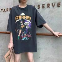 Baju Atasan Wanita Oversize Starfire Kaos Jumbo Wanita Lengan Pendek - Army